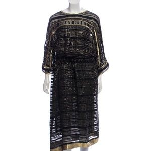 ETRO Sheer Silk Dress